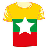 T-shirt flag Miyanma