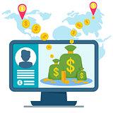 electronic money concept