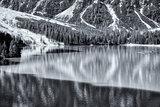 Lake of Braies in vintage landscape