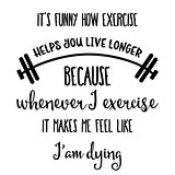 Funny  hand drawn quote about gym