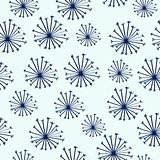 Doodle seamless pattern with dandelions