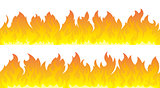 Fire flames vector set. Fire lines