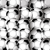 Soccer football closeup background