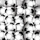 Soccer football closeup background