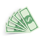 Business Infographics. Dollar, Money icon.