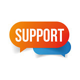 Support speech bubble icon