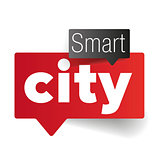 Smart city speech bubble