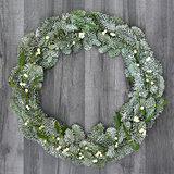 Mistletoe and Spruce Fir Wreath
