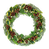 Natural Winter and Christmas Wreath
