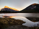 Vermillion Lakes in Banff National Park at sunset, Alberta, Canada