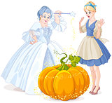Fairy Godmother & Cinderella
