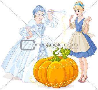 Fairy Godmother & Cinderella