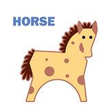 Farm animal horse isolated