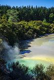Green lake in Waiotapu, Rotorua, New Zealand