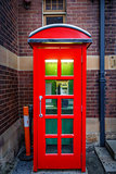 Vintage UK red phone booth