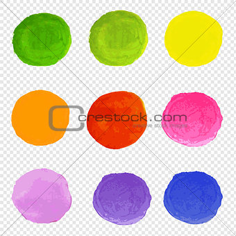Watercolor Blots Set Transparent Background