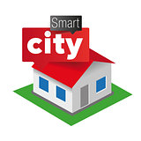 Smart city house icon