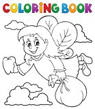 Coloring book tooth fairy theme 1