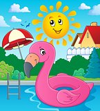 Flamingo float theme image 3