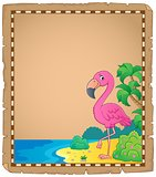 Flamingo topic parchment 1