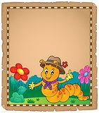 Happy caterpillar theme parchment 2