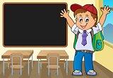 Happy pupil boy theme image 3