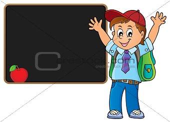 Happy pupil boy theme image 5