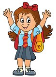 Happy pupil girl theme image 1