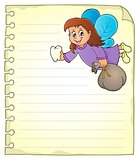 Notepad page with tooth fairy