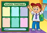 Weekly school timetable design 6