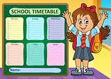 Weekly school timetable design 7