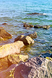 view of the Black Sea with rocks