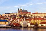 Prague St. Vitus Cathedral and Mala Strana, Czech Republic