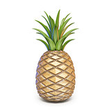 Pineapple 3D rendering illustration on white background