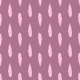 Feather seamless pattern in lilac colors