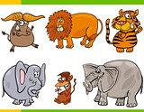 set of cartoon animal characters