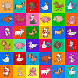 pattern design with cartoon farm animals
