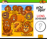 counting lions animals educational game