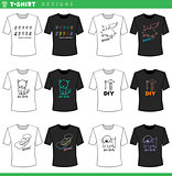 t shirt decorative designs collection