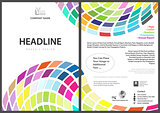 Flyer Template with Colorful Squares