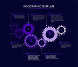 Infographic template with gears