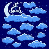 night clouds illustration