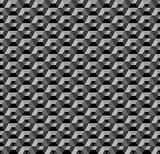 3d hexagons pattern. Dark geometric background and texture.