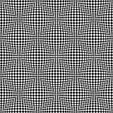 Seamless 3D checked pattern. Geometric texture.