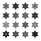 Star shape. Abstract geometric icons set.