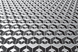 Abstract geometric pattern. Optical illusion effect.