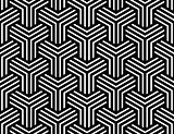 Seamless op art pattern. Illusion of  interlacing.