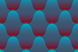 Seamless wavy tiled pattern
