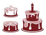 Vector cake set