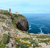 Lighthouse on Cape St. Vincent, Algarve, Portugal.
